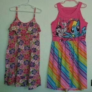 Girls 2 pack L10/12 cute summer dresses!